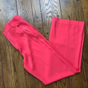 Alice + Olivia high waisted coral wide leg pants
